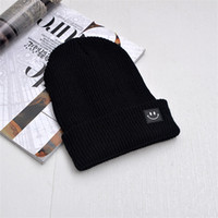 c5909962709 Leisure Designer Hats Autumn Winter Male Female Smiling Face Woolen Knitted  Hat Tide Easy Carry Warm Decorate Ornaments 5 3hb cc