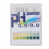 100 strisce 5.5-9.0 PH Indicatore di acido alcalino Carta Acqua Saliva Tornasole Kit di prova PH Test di carta 20% di sconto