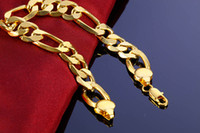 Big Chunky Chain Bracelet 18K Gold Plated 9 12MM Party For M...