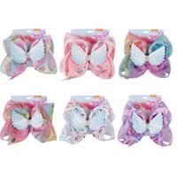 JOJO bebés de accesorios para el cabello clip de las alas del ángel del pelo de los niños del unicornio Impreso niños partido horquillas princesa cumpleaños barrettes Y468