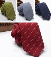 Alta calidad 6 cm hombres corbatas de algodón raya formal negocios corbata corbata corbata hombre boda casual negocio cuello corbatas barato 2021