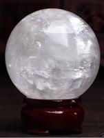 Healing Sfera Magic Decoration Fine Prezent 860-100mm + Stojak Naturalny Biały Kalcet Kwarcowy Kryształ Kula Ball Healing Gem Stone