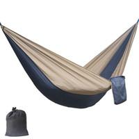 Colore solido di nylon paracadute Hammock campeggio di sopravvivenza altalena da giardino Viaggi di piacere mobili da esterno portatile