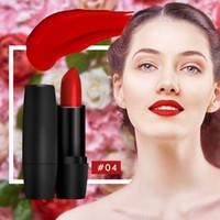 Nova maquiagem matte batom de longa duração à prova d 'água maquiagem lábios completos preto tubo vermelho pintalabios matte batom lápis