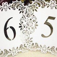 Avrupa Hollow Düğün Masa Kart Tablo Kart Modelleri Hollow Dantel Masa Numarası Kartları Düğün Dekor