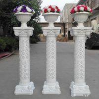 White Plastic Roman Columns Road, citada para la boda Favores Decoraciones para fiestas Hoteles Centros comerciales Abierto Bienvenido Road Lead