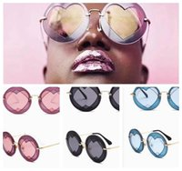 Round Love Heart Women Sunglasses Vintage Fashion Party Sun ...
