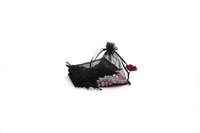 200pcs 9 * 12cm con coulisse in organza braccialetto di imballaggio di visualizzazione borsa decorazione di cerimonia nuziale del partito può personalizzare sacchetti di logo