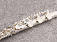 SUZUKI 17 Delikler Açık Flüt Marka Müzik aletleri C Ton Yüksek Kalite cupronickel Gümüş Kaplama Flüt ile E tuşu, Dava
