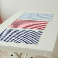 Cotton Cloth Napkins Plaid placemat 30*40cm Home Restaurant ...