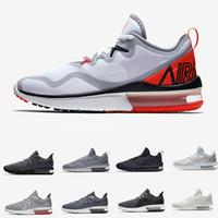 low priced ee78e 26b7b El más nuevo secuente 3 III puro negro oscuro gris blanco para hombre  zapatillas Maxes rojo
