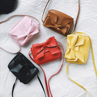 Children' s 2018 new spring shoulder bag cute mini bow d...