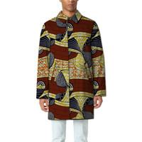 eb4917dcfe41 Großhandels- Custom Dashiki Kleidung neue Muster Druck Männer afrikanische  Jacke Umlegekragen printting Mäntel Afrika Kleidung