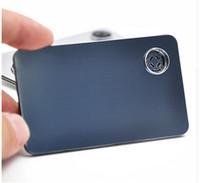 고품질의 신용 카드 흡연 담배를 피우는 금속 파이프를 클릭하십시오 Fun Metal Metal Fit in Wallet 실버 tobaccco 건조 허브 파이프 무료 배송