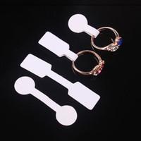 100шт / мешок Blank ценники ожерелье ювелирные изделия кольца этикетки бумаги наклейки розничный магазин