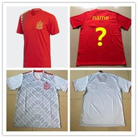 Spain world cup jersey 2018 INIESTA home red away white FABR...