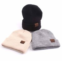 New Arrival. Parent-child CC Knitted Beanies 5 Colors Adults Kids Winter  Casual Hats Caps Solid Hip-Hop Skullies Beanie Warm Bonnet OOA5527 84da37585cf3