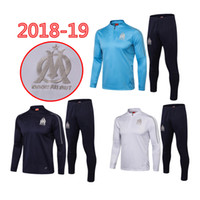 2018 19 Olympic Marseille Tracksuit jacket Soccer Jogging Fo...