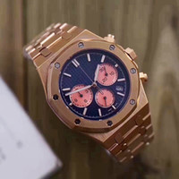 2018 new luxury brand watch men 42mm tick movement 6 pointer...