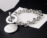 Commercio all'ingrosso di alta qualità in acciaio al titanio amore braccialetto NEWYORK marca rotonda OT marchio aragosta fibbia braccialetto per le donne Pulseira Feminina Masculina