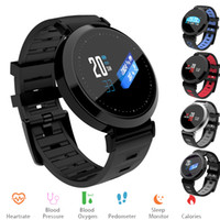 Monitoraggio della frequenza cardiaca Smart Band Fitness Tracker Monitor della pressione arteriosa Sport Watch Colore OLED Screen Y10 Smart Band per iOS 8.0 Android Phone