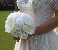 2019 billig ny ankomst hög nivå bröllop bukett färgrik mix konstgjord ros blomma fri frakt