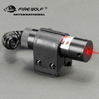 INCENDIO WOLF tattica Red Dot Sight laser rosso con coda interruttore Ambito Allungare coda di ratto Caccia Ottica