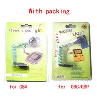Lampada flessibile portatile di illuminazione della luce del verme del LED per GBA GBC Gameboy Advance GBP di alta qualità VELOCE VELOCE