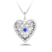 Silver Jewelry Pendant Fine Diamond Box Pendant 925 jewelry ...