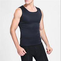 Corpo Shaper Hot Sweat treino de corpo de alças de homens em forma de colete