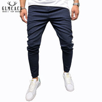 Pantalons pour hommes Streetwear Side Stripes Pantalon à carreaux Casual Slim Fit Street Fashion