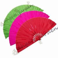 41cm solido nero rosso pieghevole mano fan artigianali danza Performce festa di nozze souvenir decorazione forniture