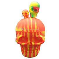 1pcs lot 500ml skull containers assorted color silicone cont...