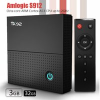 Android TV Box Amlogic S912 TX92 TV Box Android 7.1 окт ядро ​​3GB DDR4 32GB EMMC 2.5G + 5.8G Мощные Двухдиапазонный WiFi + BT4.1 UHD H.265 4K