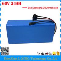 Freie zollgebühr 1500 Watt 60 V 24AH Lithium e-bike batterie 60 V 24AH e-roller batterie verwenden Samsung 3000 mah zelle 30A BMS