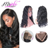 Brazilian human virgin hair 360 lace frontal body wave beaut...