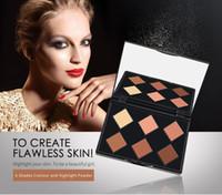 Niceface 6 색 페이스 케어 코스메틱 파우더 팔레트 메이크업 방수 컨투어 코스메틱 브론저 하이라이트 무료 배송