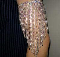 la danse du ventre bracelet bras strass AB coloré