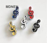 20pcs bricolaje accesorios de aleación de zinc encantos de la diapositiva 8 mm nota de la música de los granos DIY 8MM gato del perro del collar Muñequera