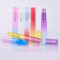 6 Adet / grup 8 ML Mini Taşınabilir Renkli Cam Parfüm Şişesi Atomizer Ile Boş Kozmetik Kapları Seyahat Için