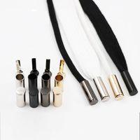 Оптовая практическая металл Aglets DIY замена головы аксессуары для шнурки черное золото серебро орнамент для веревки