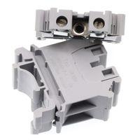 50 ADET DIN ray Kablolama kurulu konnektör terminalleri bakır bölüm 10.0mm İNGILTERE-10N gri gri Kablo satır bağlantı