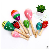 Fancy bell Orff instruments Baby Toys Kids Wooden Rattle Mar...
