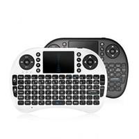 لوحة مفاتيح لاسلكية Rii mini i8 + لاسلكية 100٪ جديدة مع إضاءة خلفية للتلفزيون الذكي 2.4 جيجا هرتز