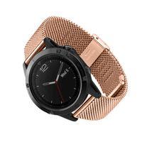 Milanese Paslanmaz Çelik GPS Watch Band Kayışı bilezik için Garmin Fenix 5