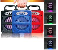 Оптовая продажа-MS-130BT Беспроводной Bluetooth мощный 30 Вт открытый Портативный светодиодный свет спикер сабвуфер супер бас музыкальные колонки Бумбокс TF Радио