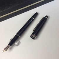 High- quality black resin Fountain pen MB Pen with silver cli...