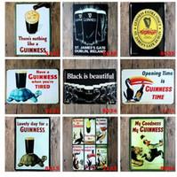 Mon Dieu Mon Guinness Métal Peinture Signes Noir Est Belle Marque Bière Bar Club Rétro Décor À La Maison Mur Art Affiche YN042