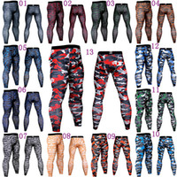 Camouflage pants mens tight fitness sports Gym Clothing comp...