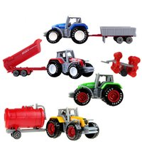 Boys Toy Tractor Toys 4pcs set Alloy Engineering Car Agricul...